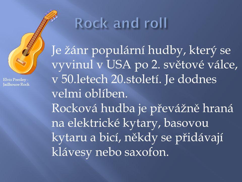Je žánr populární hudby, který se vyvinul v USA po 2.
