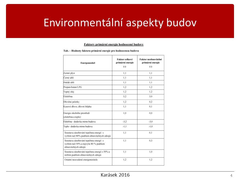 Karásek 2016 4 4 Environmentální aspekty budov