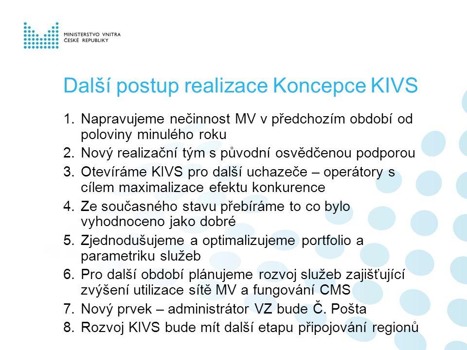 (1) Nové organizační zajištění programu KIVS na MVČR (2) Role a představení zástupců České pošty (3) Obnovení pravidelných jednání CMS Fóra Představení KIVS teamu a organizačního zajištění agendy KIVS