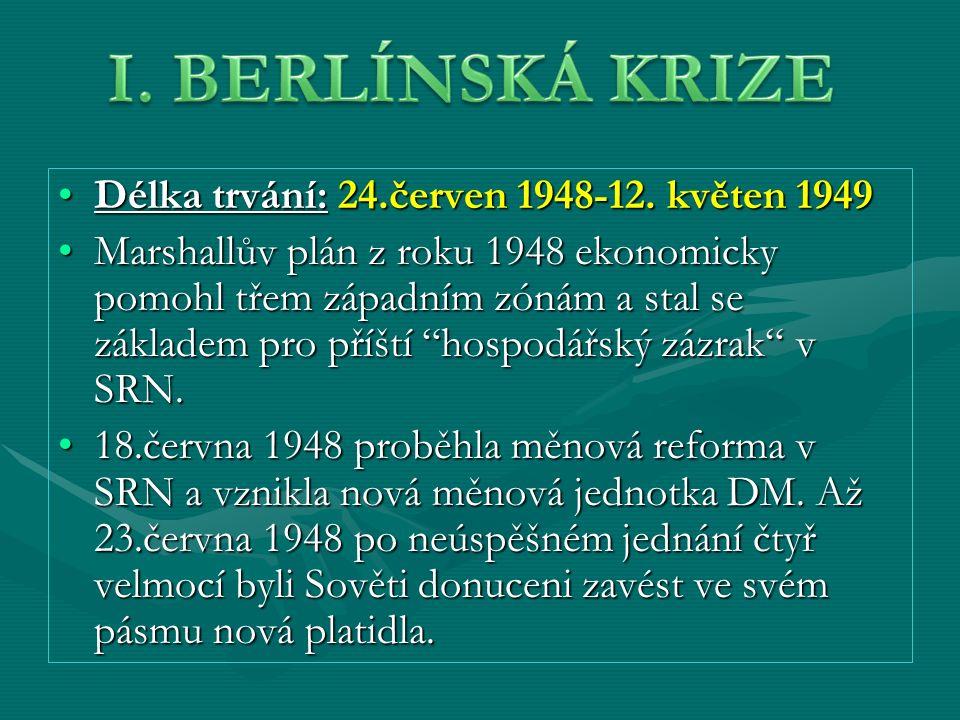 Délka trvání: 24.červen 1948-12. květen 1949Délka trvání: 24.červen 1948-12.