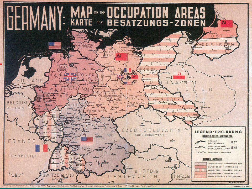 V únoru 1945 na konferenci v Jaltě se tři velmoci (SSSR,VB,USA) dohodli na pováleční uspořádání Evropy.