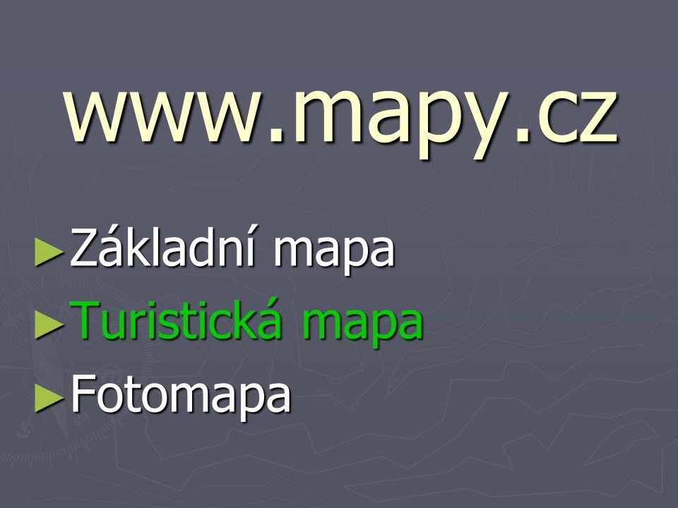 www.mapy.cz ► Základní mapa ► Turistická mapa ► Fotomapa