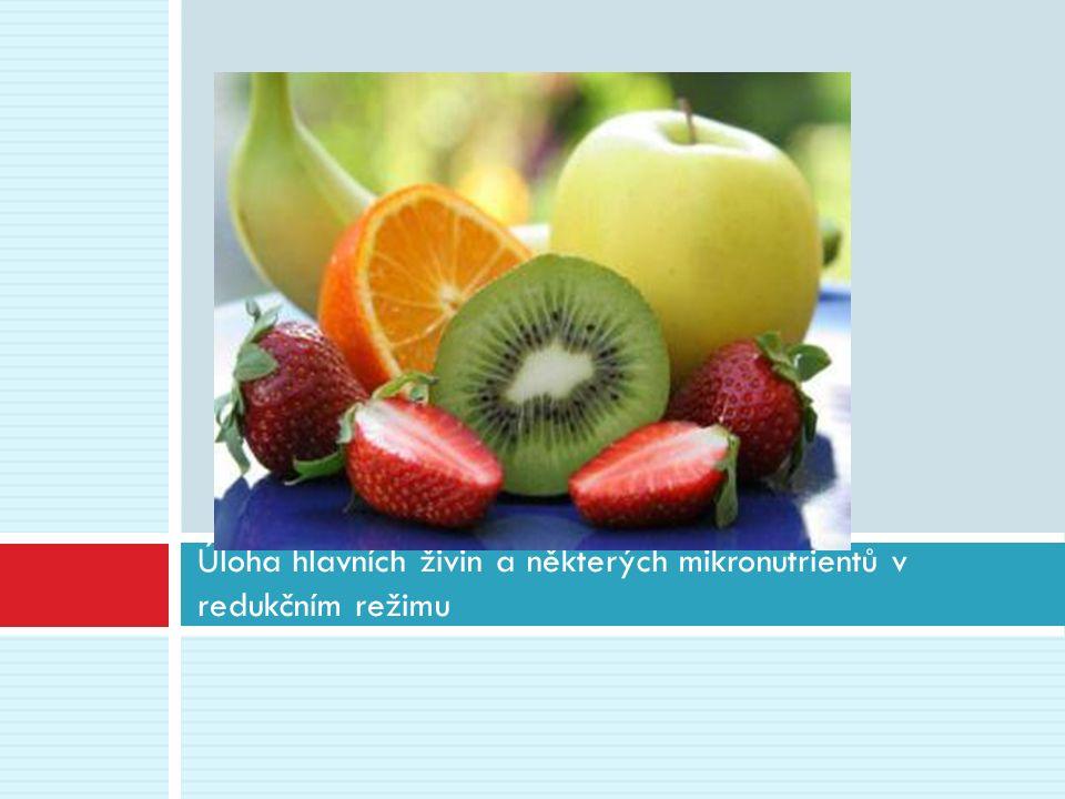 Úloha hlavních živin a některých mikronutrientů v redukčním režimu