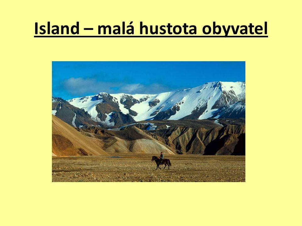 Island – malá hustota obyvatel