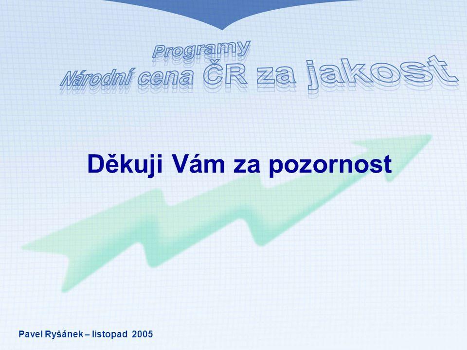 Děkuji Vám za pozornost Pavel Ryšánek – listopad 2005