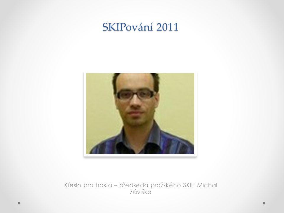 SKIPování 2011 Křeslo pro hosta – předseda pražského SKIP Michal Záviška