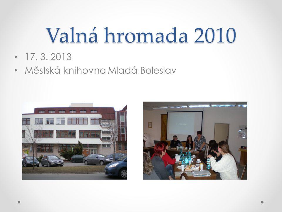 Valná hromada 2010 17. 3. 2013 Městská knihovna Mladá Boleslav
