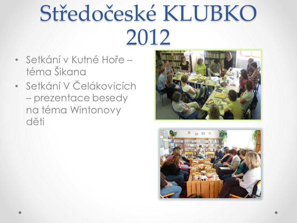 Středočeské KLUBKO 2012 Setkání v Kutné Hoře – téma Šikana Setkání V Čelákovicích – prezentace besedy na téma Wintonovy děti