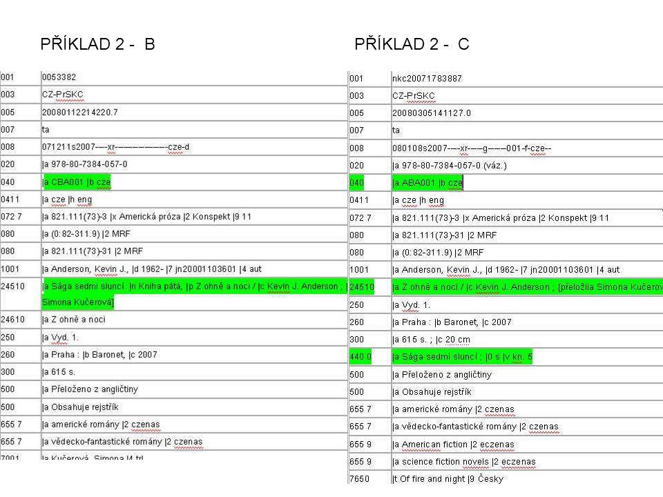 PŘÍKLAD 2 - B PŘÍKLAD 2 - C