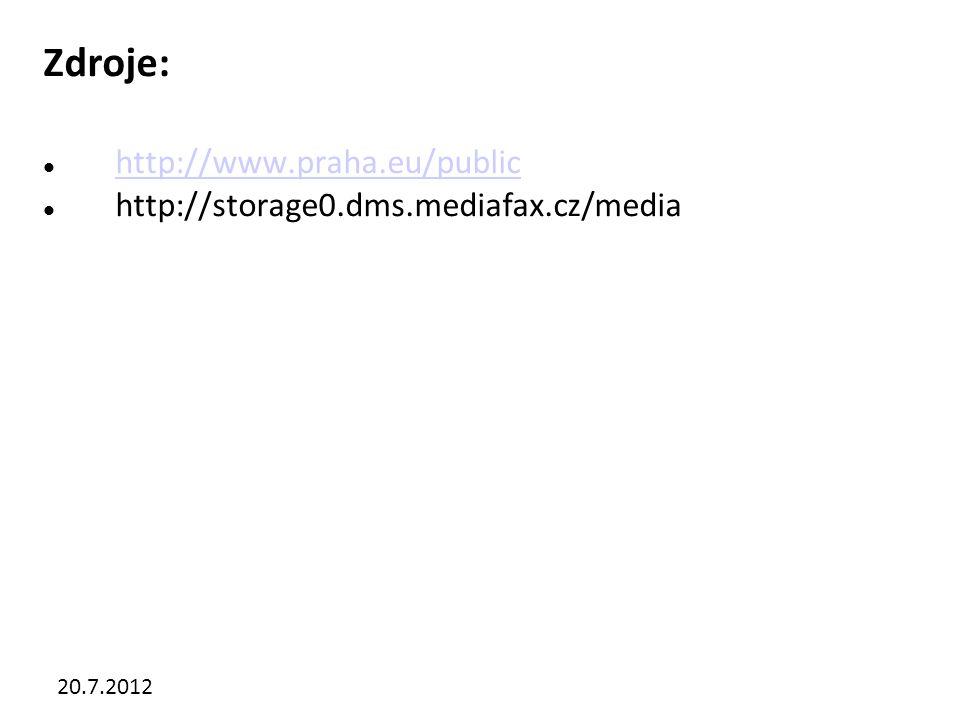 20.7.2012 Zdroje: http://www.praha.eu/public http://storage0.dms.mediafax.cz/media