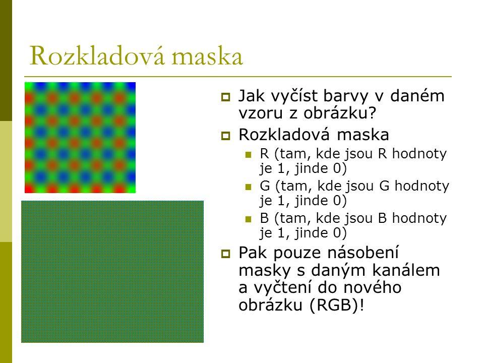 Rozkladová maska  Jak vyčíst barvy v daném vzoru z obrázku.