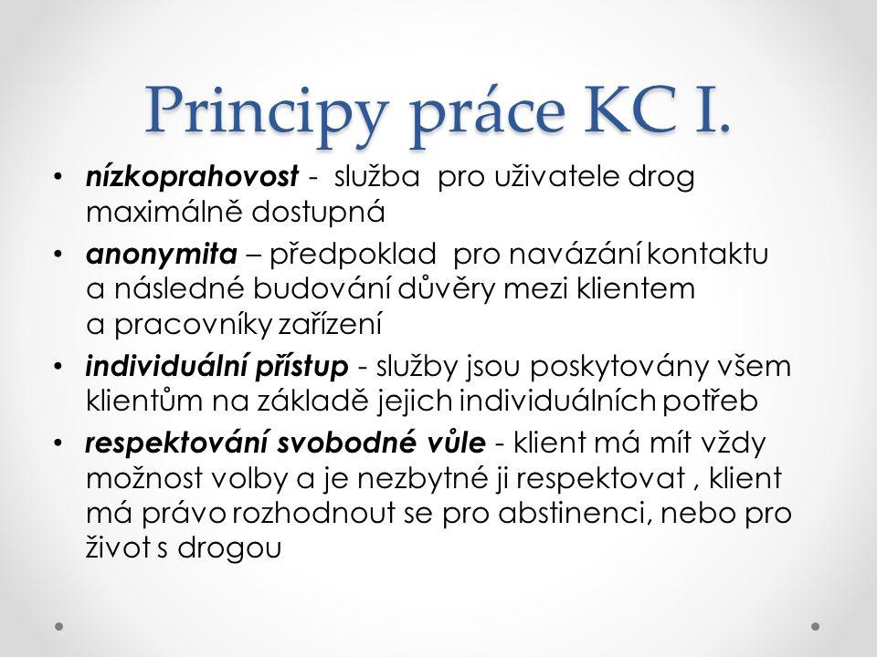 Principy práce KC I.