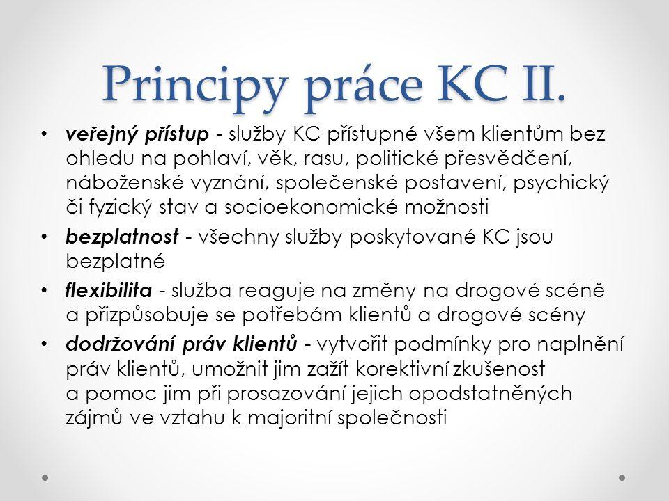 Principy práce KC II.