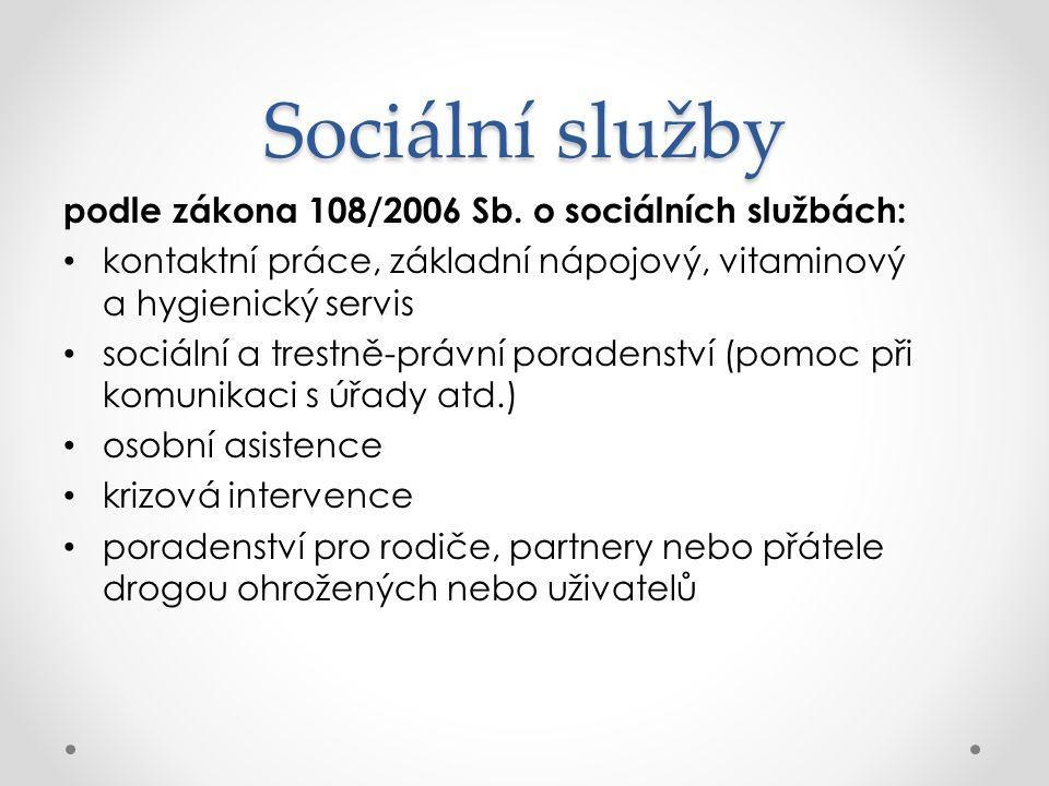 Sociální služby podle zákona 108/2006 Sb.