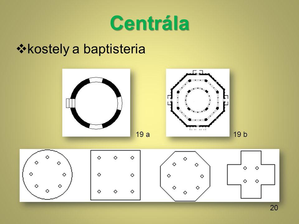 Centrála  kostely a baptisteria 19 b 20 19 a