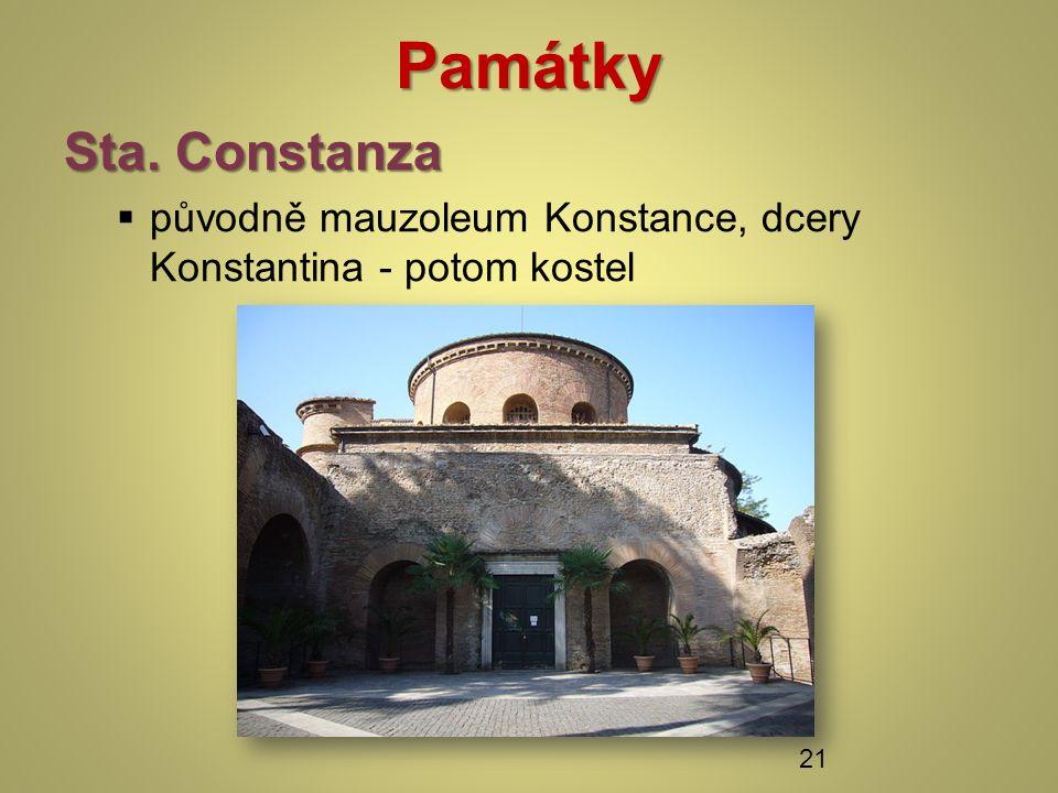 Památky Sta. Constanza  původně mauzoleum Konstance, dcery Konstantina - potom kostel 21