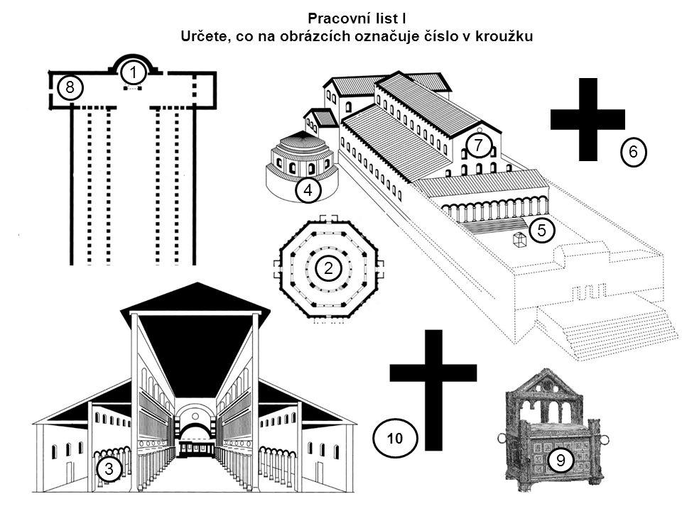 7 5 4 1 8 9 6 10 Pracovní list I Určete, co na obrázcích označuje číslo v kroužku 3 2