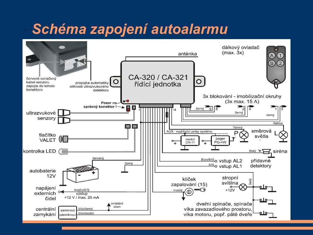Schéma zapojení autoalarmu