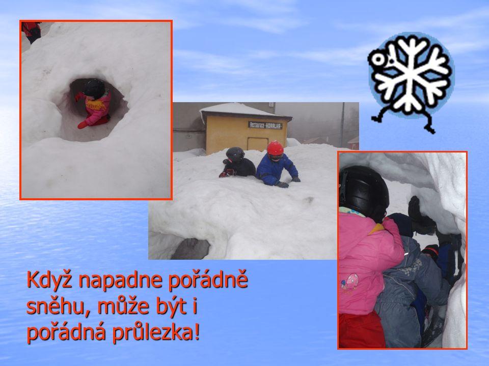 Když napadne pořádně sněhu, může být i pořádná průlezka!