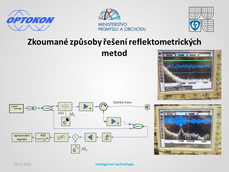 Zkoumané způsoby řešení reflektometrických metod 29.03.2016Inteligentní technologie