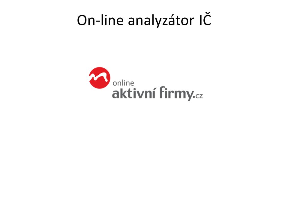 On-line analyzátor IČ