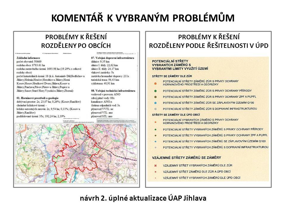 POŽADAVKY NA ZADÁNÍ ÚZEMNÍHO PLÁNU Z ÚAP pro řešení ÚP vyplývá následující: Respektovat limity využití území: - silnice I/38, II/602, II/405, II/352, II/523...