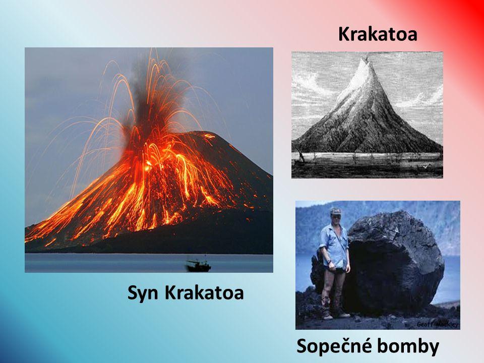 Syn Krakatoa Krakatoa Sopečné bomby