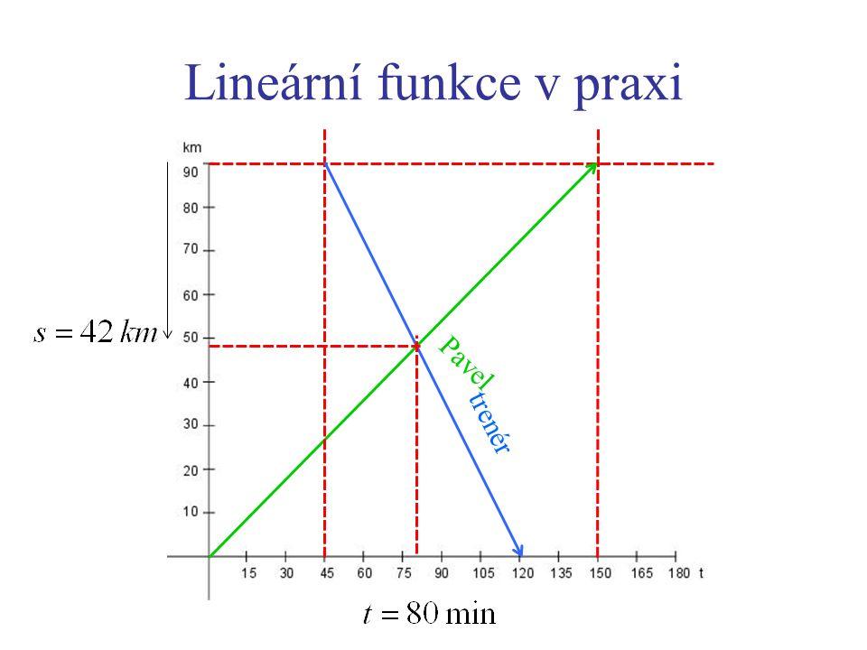 Lineární funkce v praxi Pavel trenér