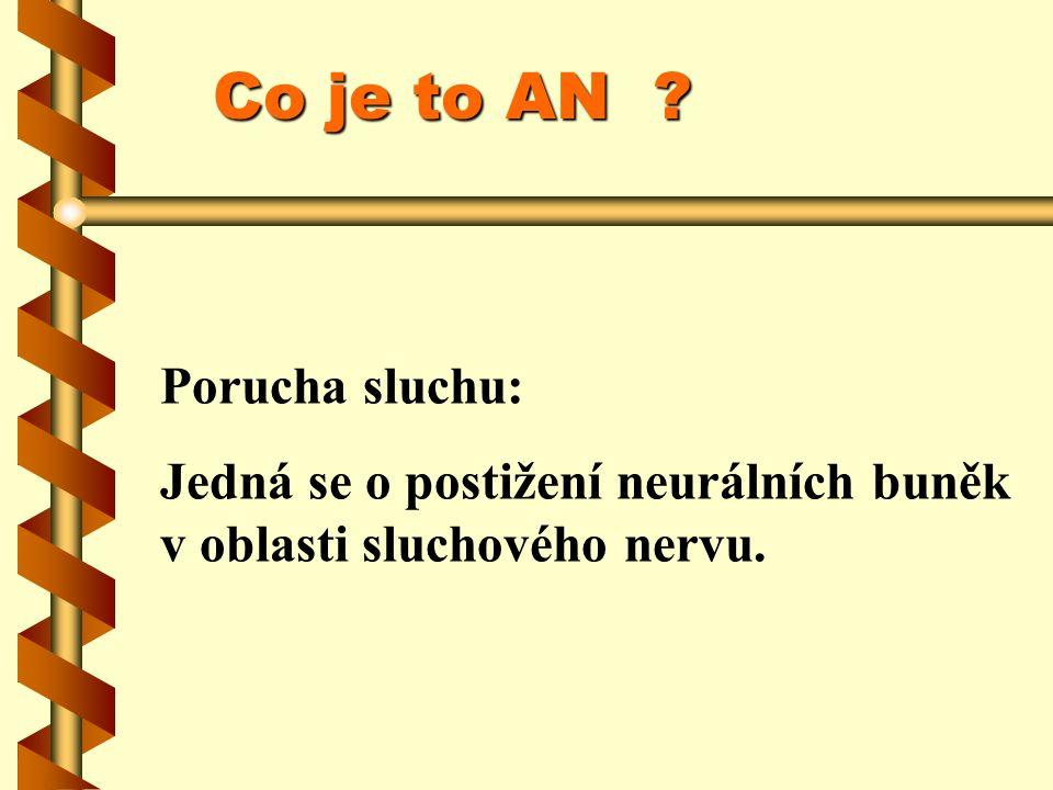 Auditory neuropathy Normální průřez nervemRetrokochleární postižení nervu
