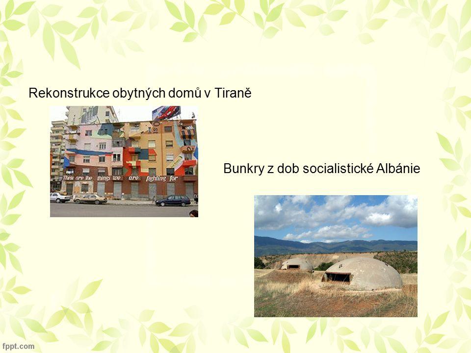 Rekonstrukce obytných domů v Tiraně Bunkry z dob socialistické Albánie