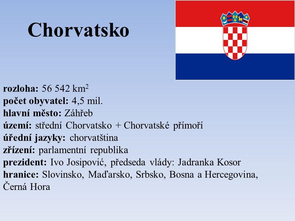 Bosna a Hercegovina rozloha: 51 233 km 2 počet obyvatel: 4 mil.