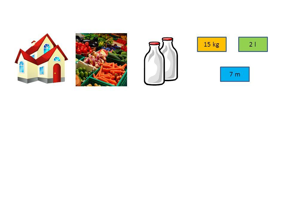 4. Rozděl předměty podle toho, jestli je vážíme, měříme nebo odměřujeme: MĚŘÍME ODMĚŘUJEME VÁŽÍME