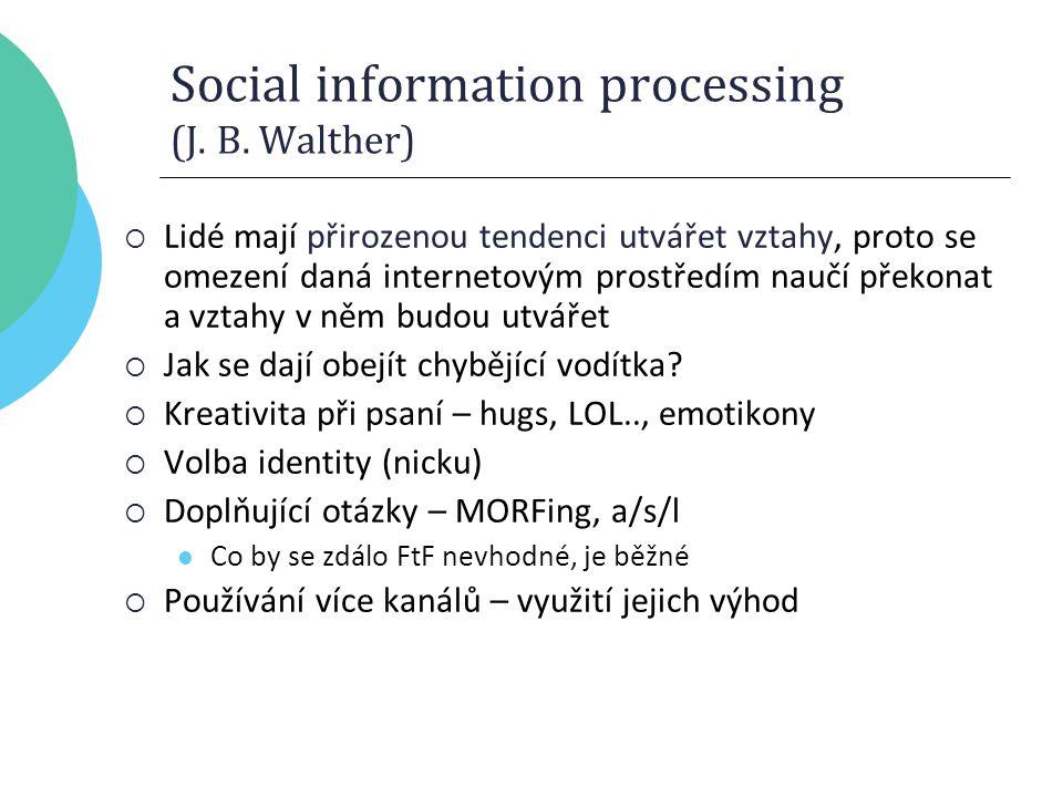 Social information processing (J. B.