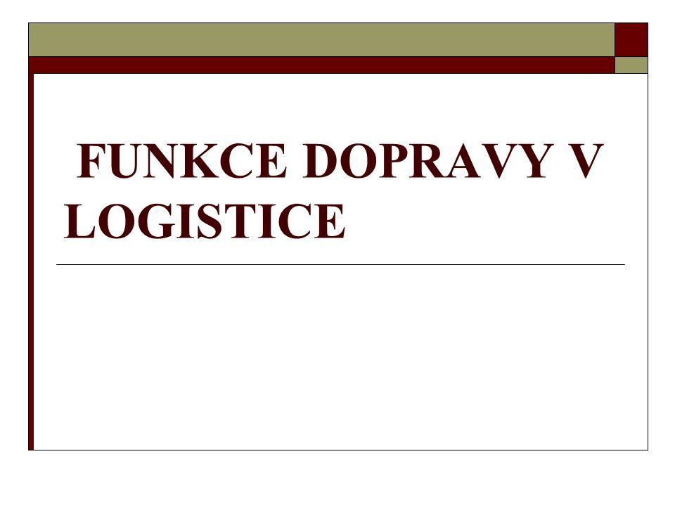 Logistická doprava  Dopravní systém, který vyhovuje logistickému řízení oběhových procesů, označujeme jako logistickou dopravu.