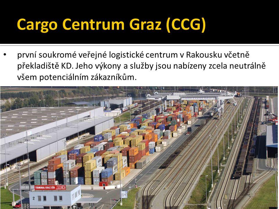první soukromé veřejné logistické centrum v Rakousku včetně překladiště KD.