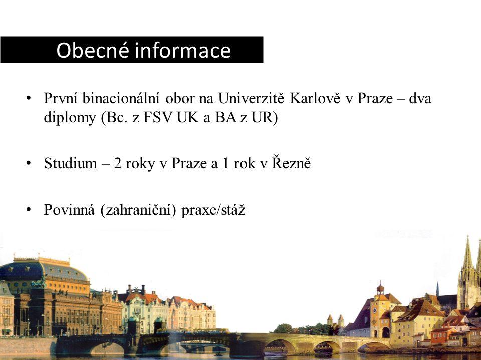 První binacionální obor na Univerzitě Karlově v Praze – dva diplomy (Bc.