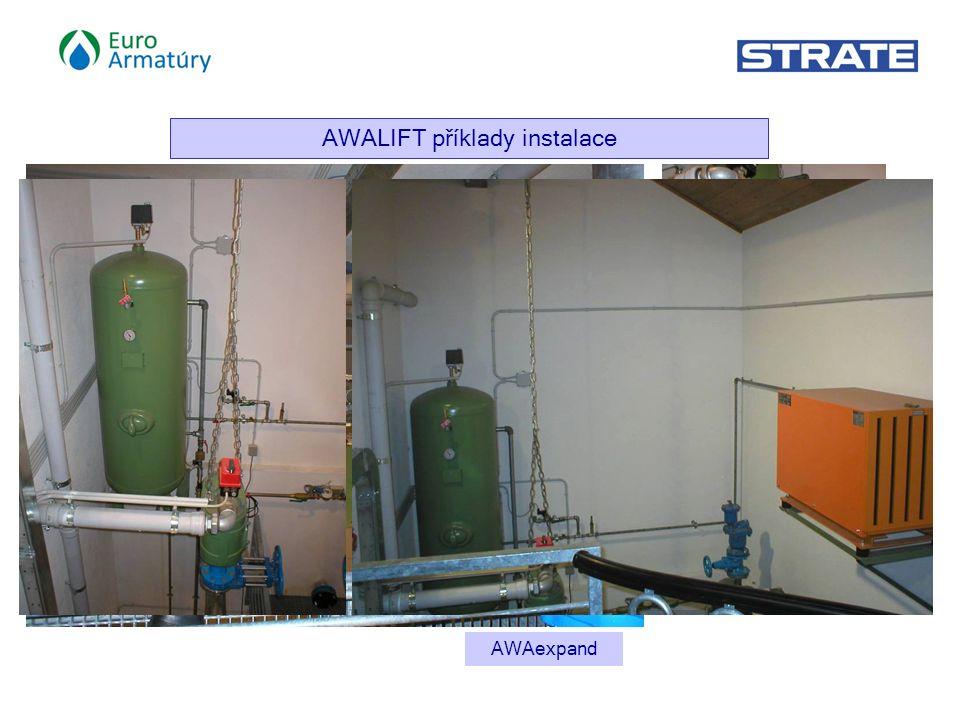 AWALIFT příklady instalace AWALIFT 1 / 2 AWAexpand Sewage Air Valve BEV