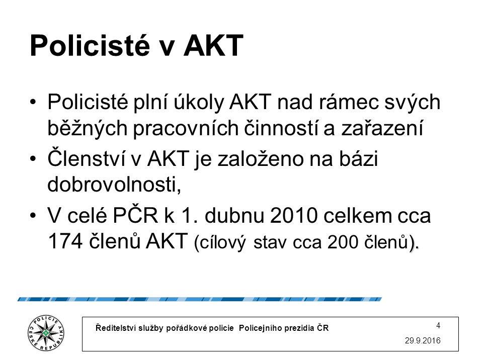 Základní úkol AKT Transparentním způsobem prostřednictvím komunikace předcházet agresivnímu jednání osob při opatření.
