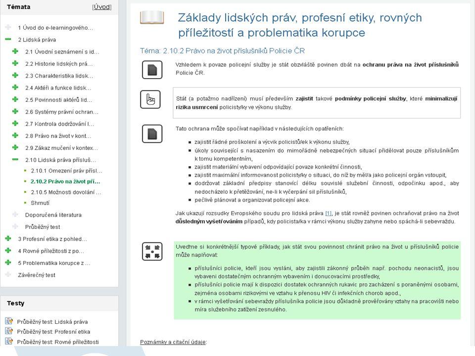 Monitoring, audit a kontrola projektů SF EU Cílová skupina: zaměstnanci MV, GŘ HZS ČR a OSS MV Forma a rozsah studia: distanční (e-learning): max.