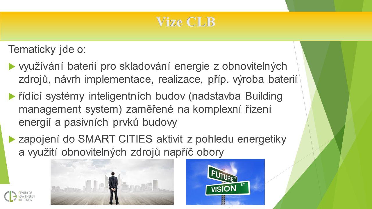 Tematicky jde o:  využívání baterií pro skladování energie z obnovitelných zdrojů, návrh implementace, realizace, příp.