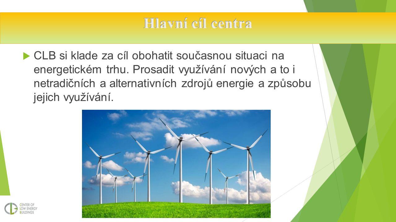  CLB si klade za cíl obohatit současnou situaci na energetickém trhu.