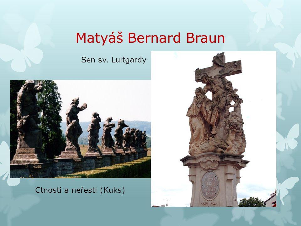 Matyáš Bernard Braun Sen sv. Luitgardy Ctnosti a neřesti (Kuks)