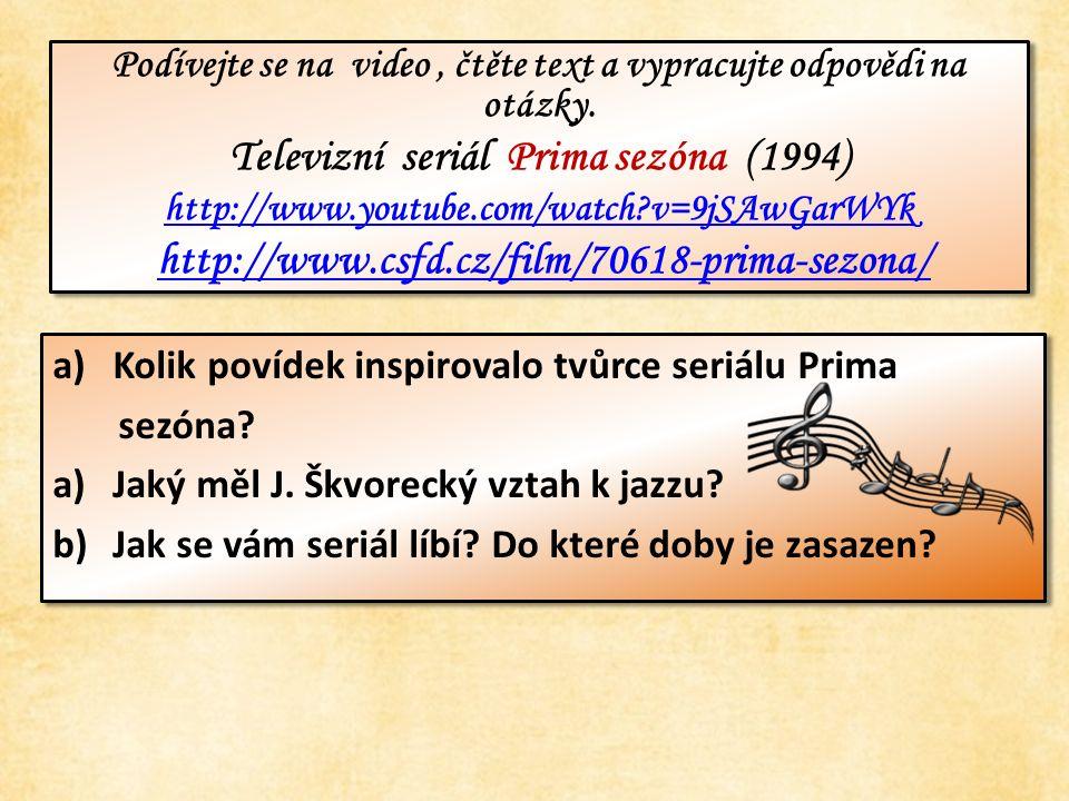 Podívejte se na video, čtěte text a vypracujte odpovědi na otázky.