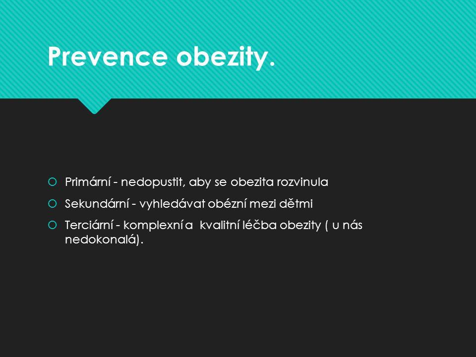 Prevence obezity.