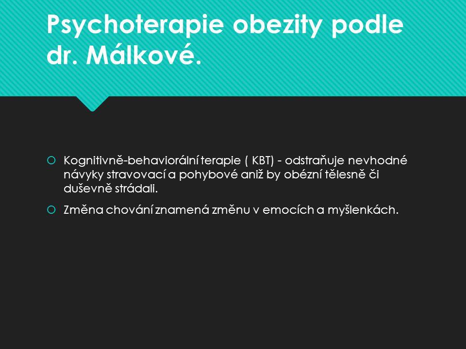 Psychoterapie obezity podle dr. Málkové.