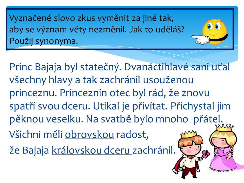 Princ Bajaja byl statečný.