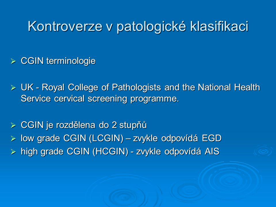 CASE REPORT  HISTOL: PUNCH BIOPSIE  Fragmenty endocervikální sliznice s úseky adenocarcinoma in situ (AIS).