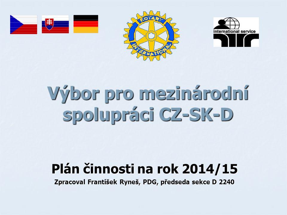 Výbor pro mezinárodní spolupráci CZ-SK-D Plán činnosti na rok 2014/15 Zpracoval František Ryneš, PDG, předseda sekce D 2240