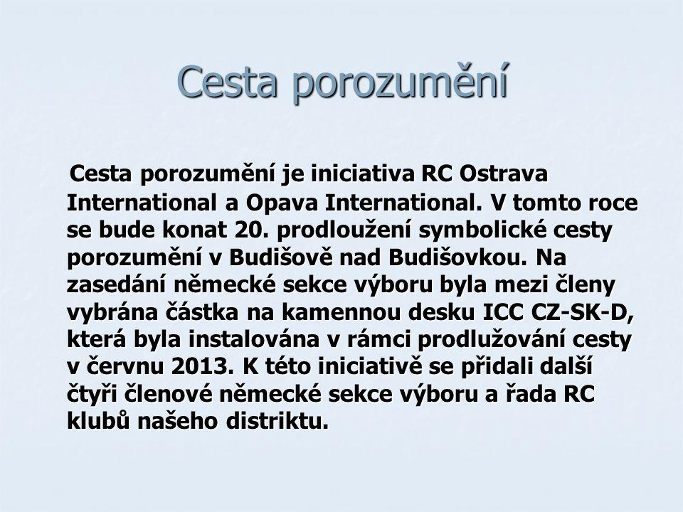 Cesta porozumění Cesta porozumění je iniciativa RC Ostrava International a Opava International.