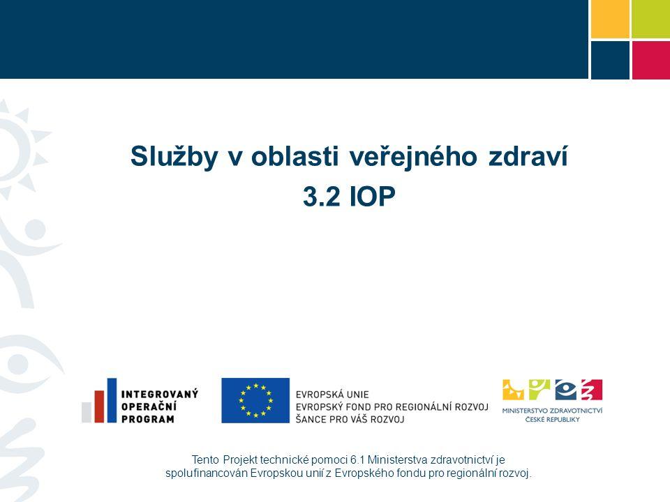 Tento Projekt technické pomoci 6.1 Ministerstva zdravotnictví je spolufinancován Evropskou unií z Evropského fondu pro regionální rozvoj. Služby v obl